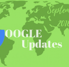 September 2016 Google Updates
