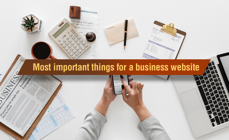 Most important things for a business website