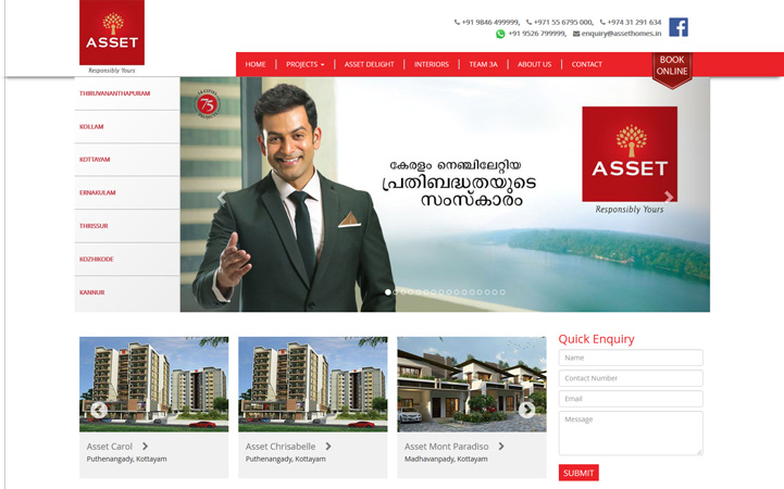 Asset Homes website